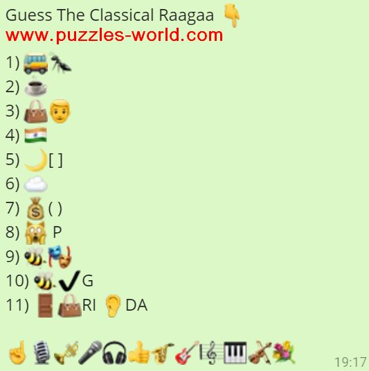 Guess The Classical Raagaa