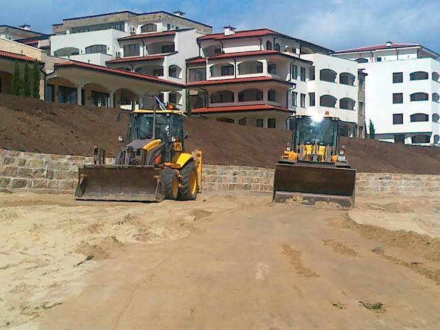 Подравняване и почистване на строителни терени
