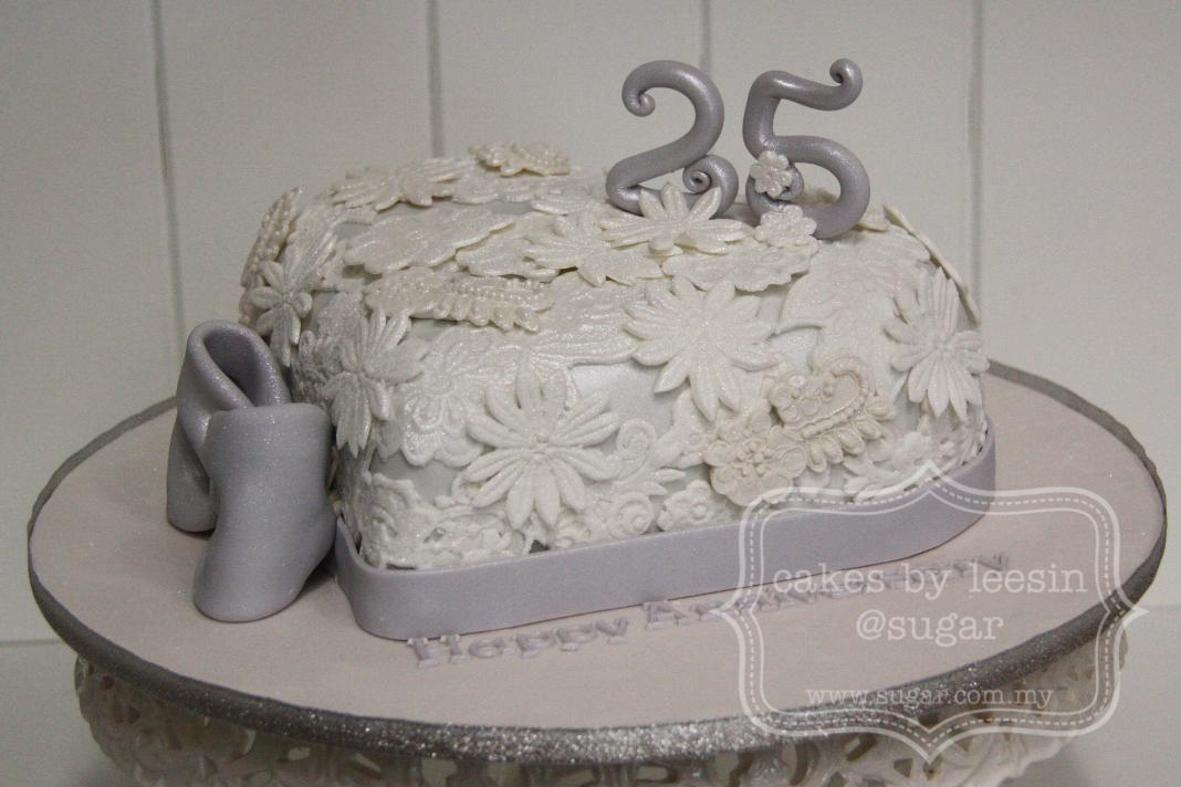 Penang Wedding Cakes By Leesin: 25th Wedding Anniversary Cake