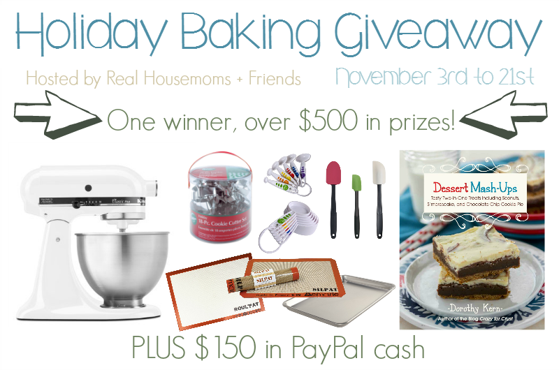Holiday Baking Giveaway | by Life Tastes Good brings you over $500 in holiday baking prizes and over 40 Holiday Baking recipes to help simplify your holidays! #Giveaway #Holiday #Baking