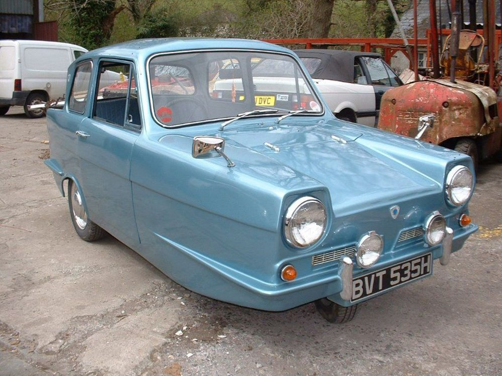 Reliant Robin, a Three-Wheeled Car That Was Voted the Worst