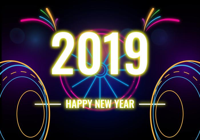Happy new year 2019 Vector Graphics to download newest