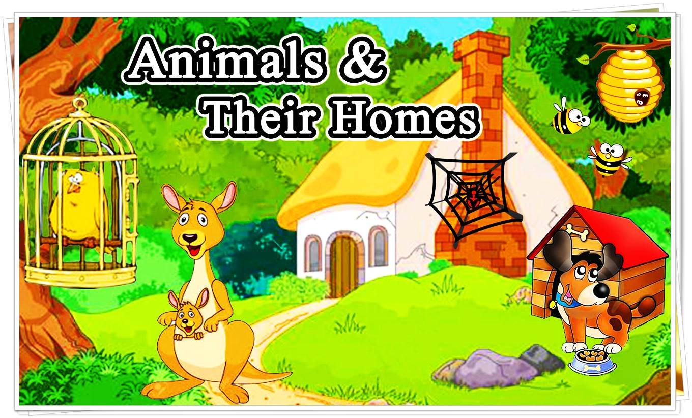Coloring Pages Of Animals And Their Homes : Coloring pages animals and their homes fun