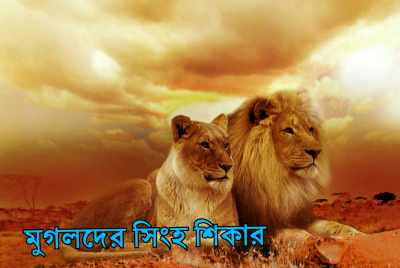মুগলদের-সিংহ-শিকার-lion-hunting-of-the-Mughals