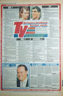 Back page of an old UK tabloid newpaper from 18th September 1988