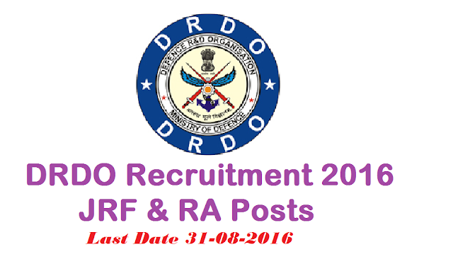 DRDO Recruitment 2016 – JRF & RA Posts|DMRL Jobs 2016 – Jr Research Fellow& RA Posts|DEFENCE METALLURGICAL RESEARCH LABORATORY (DMRL) GOVERNMENT OF INDIA, MINISTRY OF DEFENCE|DEFENCE RESEARCH AND DEVELOPMENT ORGANISATION (DRDO) KANCHANBAGH|RESEARCH FELLOWSHIP IN DRDO/2016/08/drdo-recruitment-2016-jrf-ra-posts-dmrl-jr-research-fellow--ra-posts.html