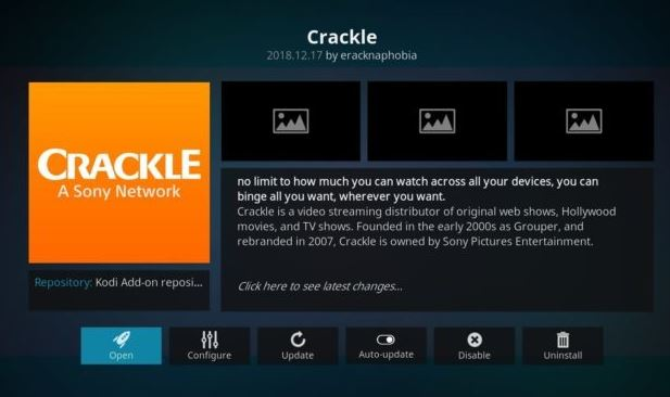 Crackle - Best Kodi Addon