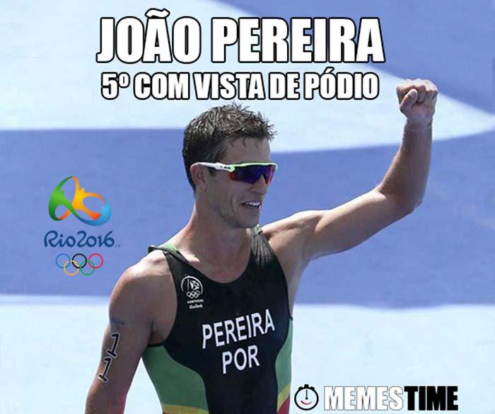 Memes Time João Pereira no Rio 2016 – 5º com vista de pódio