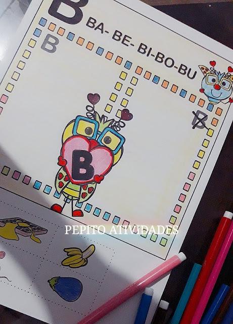 Atividades com as consoantes para fixar letra inicial