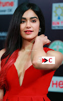 Adah Sharma in Red Deep Neck Spicy Gown ~  Exclusive 07.jpg
