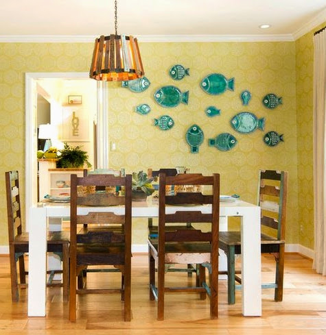 decorative fish wall plates school of fish idea