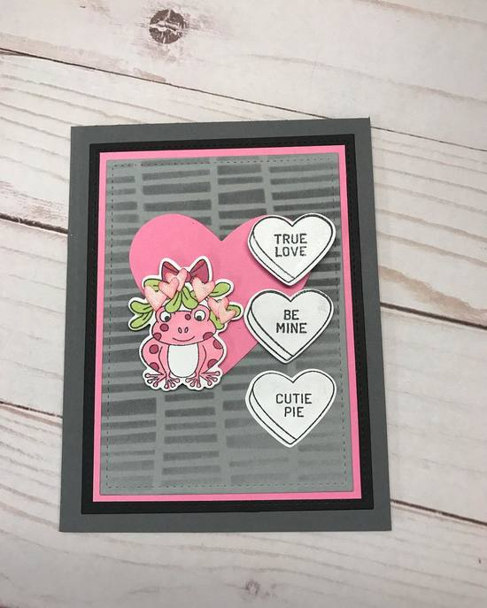 True Love by Vicki features Mistle Toad, Candy Heart, and Serene Stripes by Newton's Nook Designs; #newtonsnook