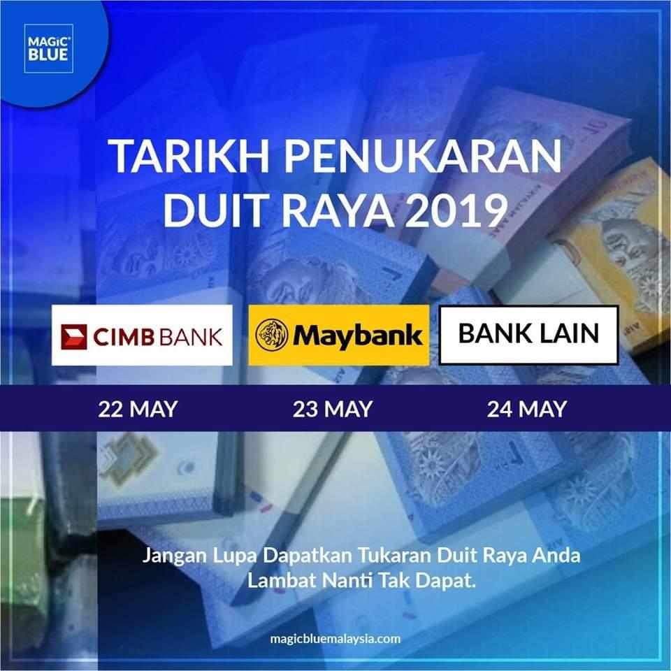 Tarikh Penukaran Duit Raya 2021 Malaysia - MY PANDUAN