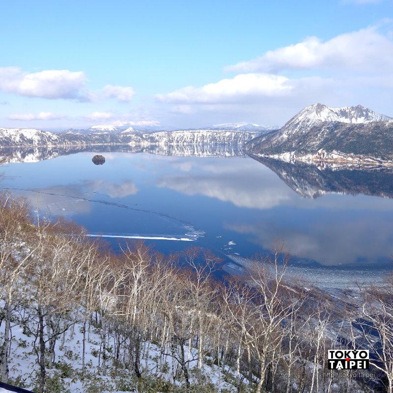 【摩周湖】萬岳雲晴歸一眸 冰透清澈摩周藍