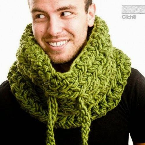 crochet winter scarf