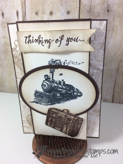 Vintage Masculine card, Traveler Stampin'Up!, Frenchiestamps,