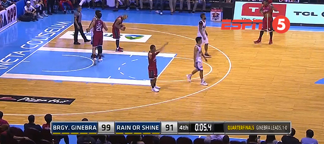 Ginebra eliminates Rain or Shine, 99-91 (REPLAY VIDEO) March 7 / QF Game 2