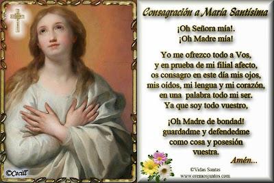 Resultado de imagen para consagracion a la virgen maria