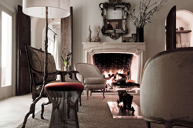 Haus design cozy up by the fire - Decorating ideas living room fireplace ...