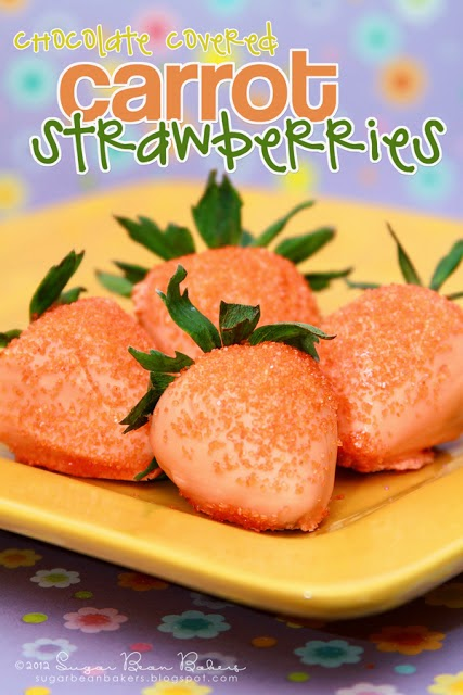 Carrot Strawberries by Sugar Bean Bakers