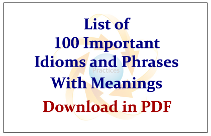 Idioms And Phrases With Examples Ebook