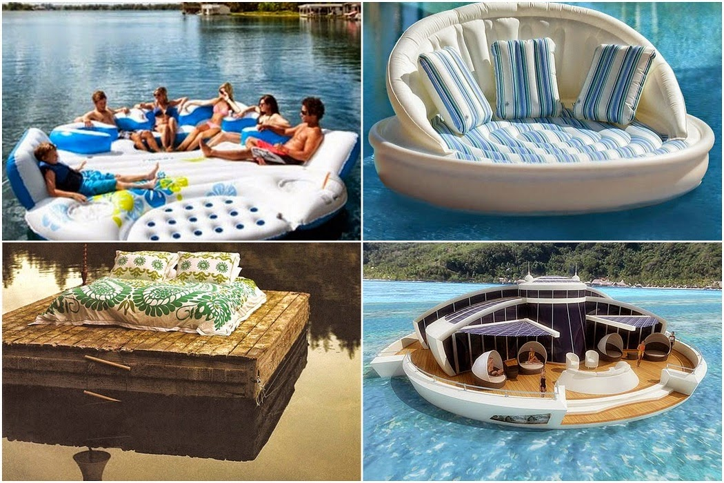 The Floating Sofa - Amazing Floating Water Furniture