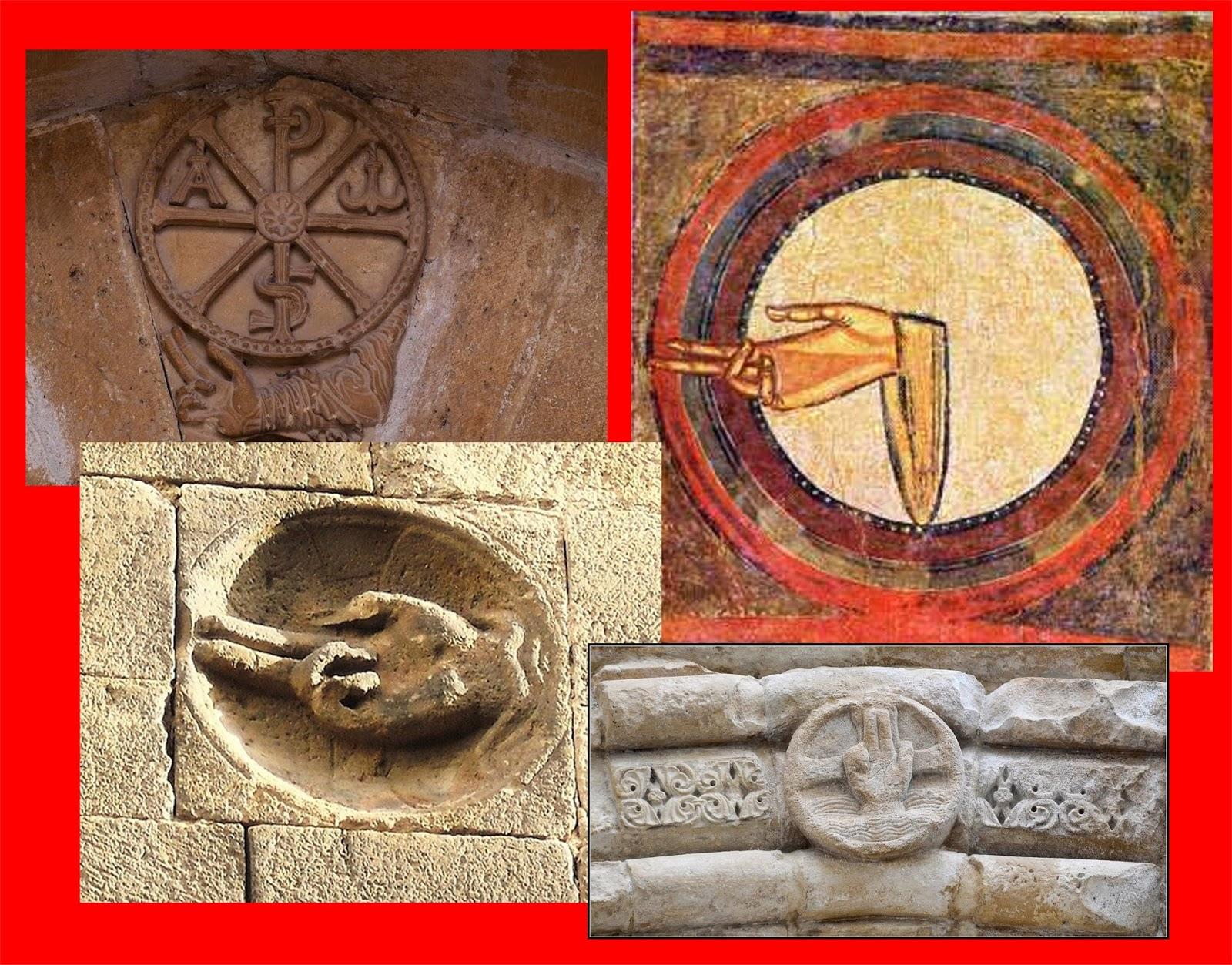 """La presenza dell immagine della """"Dextera Domini"""" molto usata nel Medioevo e  durante tutto il tempo dei Viaggi e dei Pellegrinaggi f992f2b85951"""