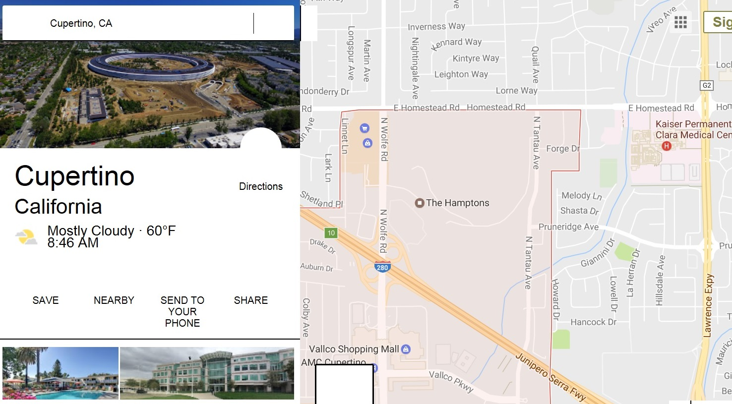 Apple's new headquarters on old Cupertino HP site is shown by Google Maps