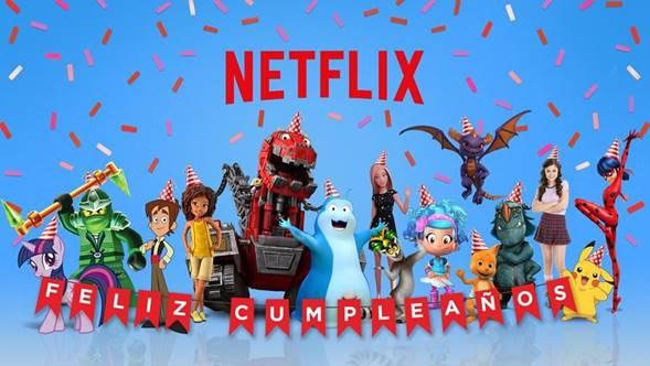 Personajes animados en Netflix le cantarán el cumpleaños a sus hijos