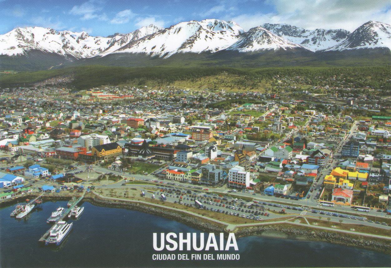 Postal de Ushuaia, ciudad más austral del mundo