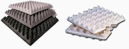 Tipos de materiales aislantes | Cajas de huevos | Utilización como aislante acústico