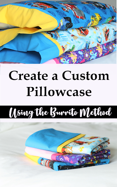 How to create a custom pillowcase using the burrito method or in other words, a burrito pillowcase.