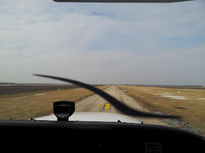 Cockpit View of Joe Burlas Landing at Dwight Airfield in Central Illinois