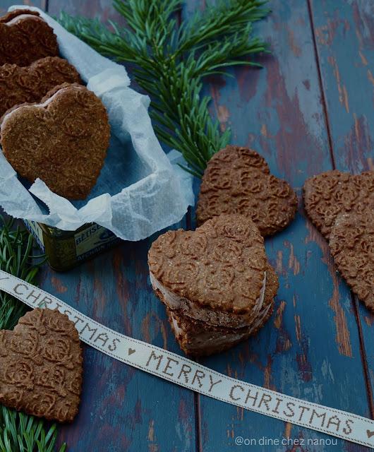 cookies de noel , glacé , chocolat , chataigne