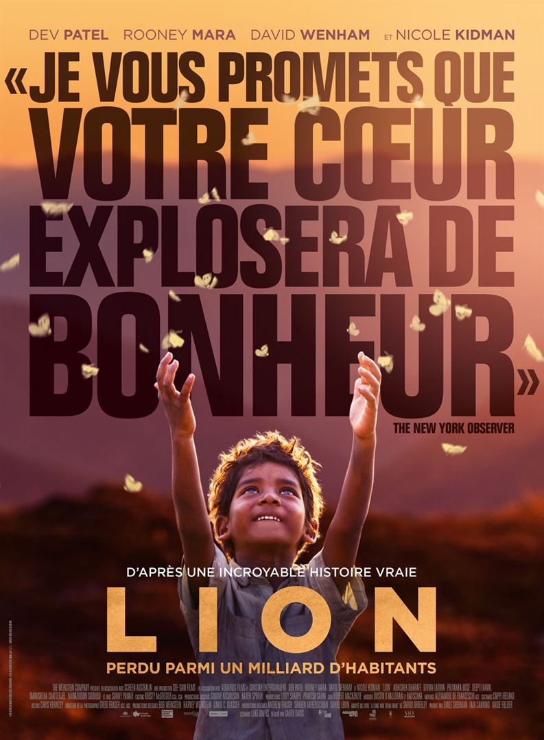 #Cinema | Lion by Garth Davis, a true story | Lion par Garth Davis, une histoire vraie
