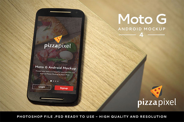 Smartphone & Tablet Mockup PSD Terbaru Gratis - Android Moto G Easy 4 PSD Mockup