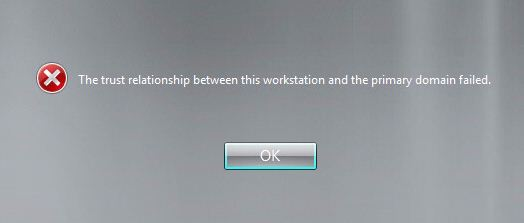 trust relationship between workstation and primary domain failed windows 7