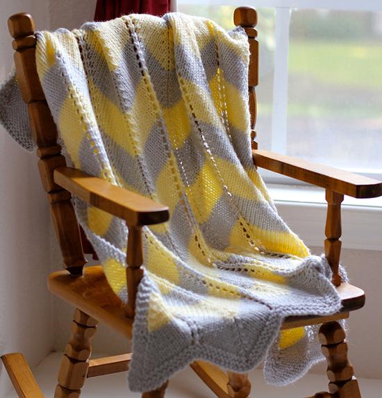 Striped Chevron Baby Blanket