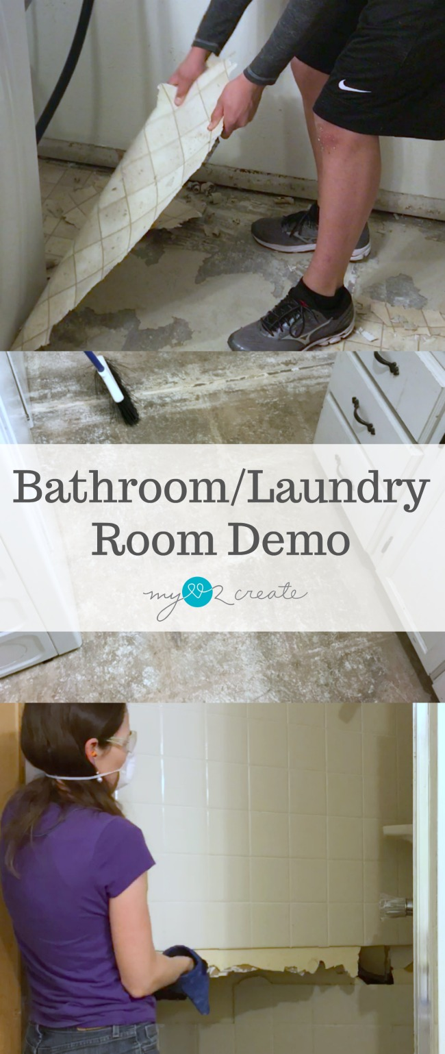 Learn how to do a Bathroom/Laundry Room Demo