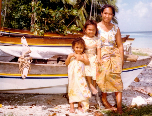 Cocos (Keeling) Islanders photographed during a visit to the islands by Senator Reg Withers in 1976