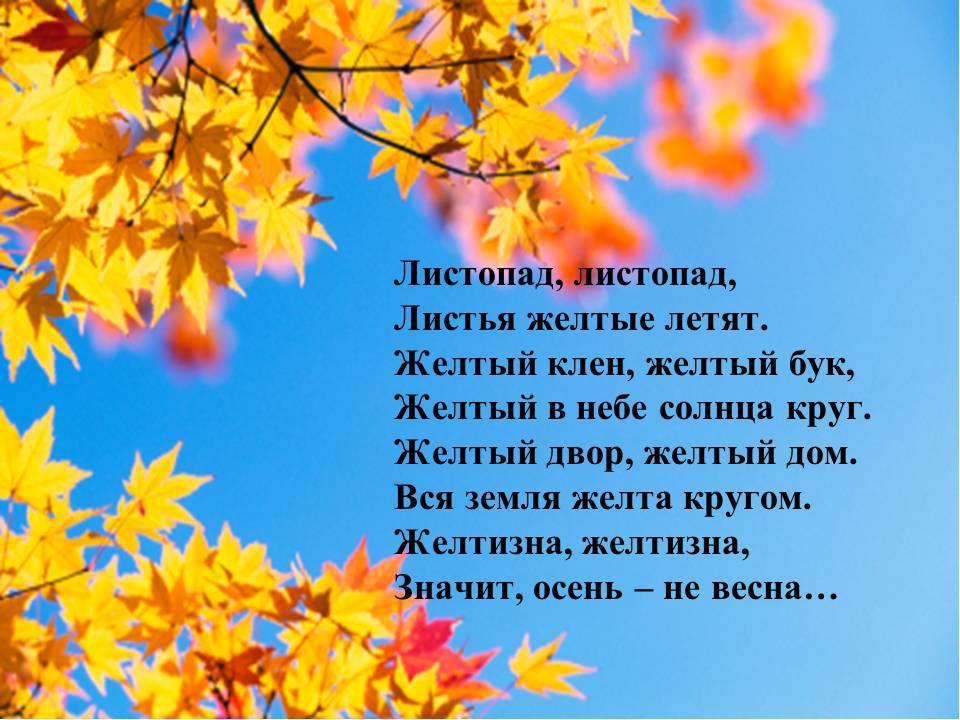 Картинки с детскими стихами про осень, открытки