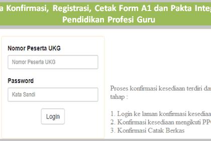 Cara Konfirmasi, Registrasi, Cetak Form A1 & Pakta Integritas PPG 2019