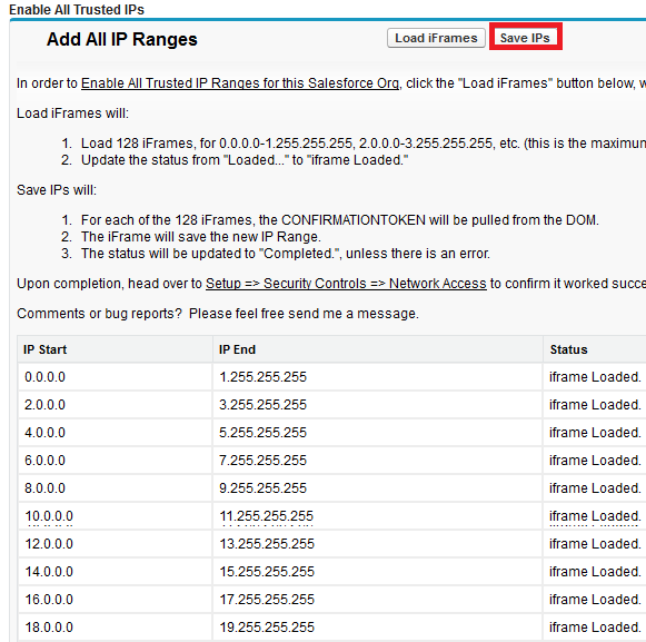 Infallible Techie: How to access Salesforce from all IP ranges?