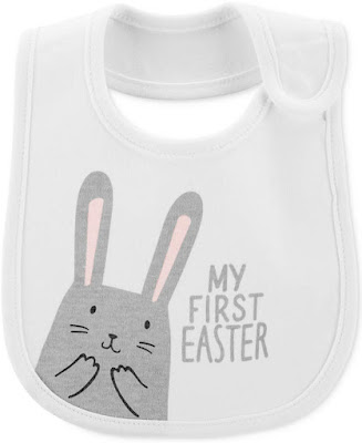 Baby Boys or Girls Bunny Graphic Cotton Bib