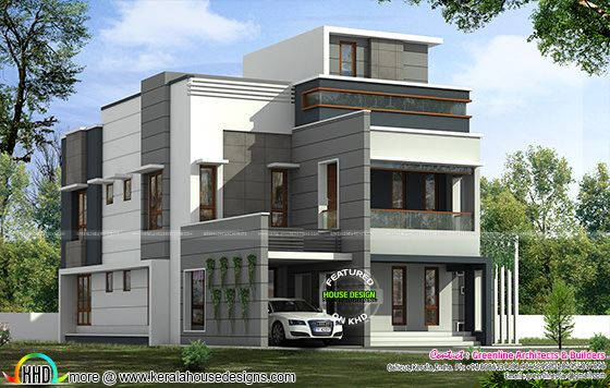 311 sq yd modern contemporary 5 bedroom house kerala for Best house design nepal