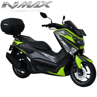 Harga Cash dan Kredit Motor Modifikasi Yamaha NMax Non ABS Custom Gunmetal Hijau Back Box SHAD