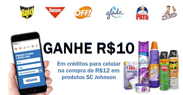 """Promoção SC Johnson """"Recarga de Prêmio"""""""