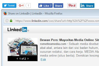 Cara Memasang Tombol Share Media Sosial di Bawah Posting Blog