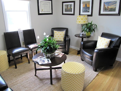Sew many ways waiting room before and after pictures for Waiting room interior design ideas
