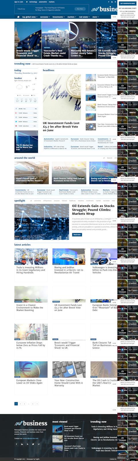 Responsive News Magazine and Blog